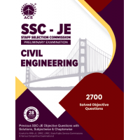 SSC – JE Prelims, Civil Engineering Previous Objective Questions With Solutions, Subject Wise & Chapter Wise ACE ACADEMY