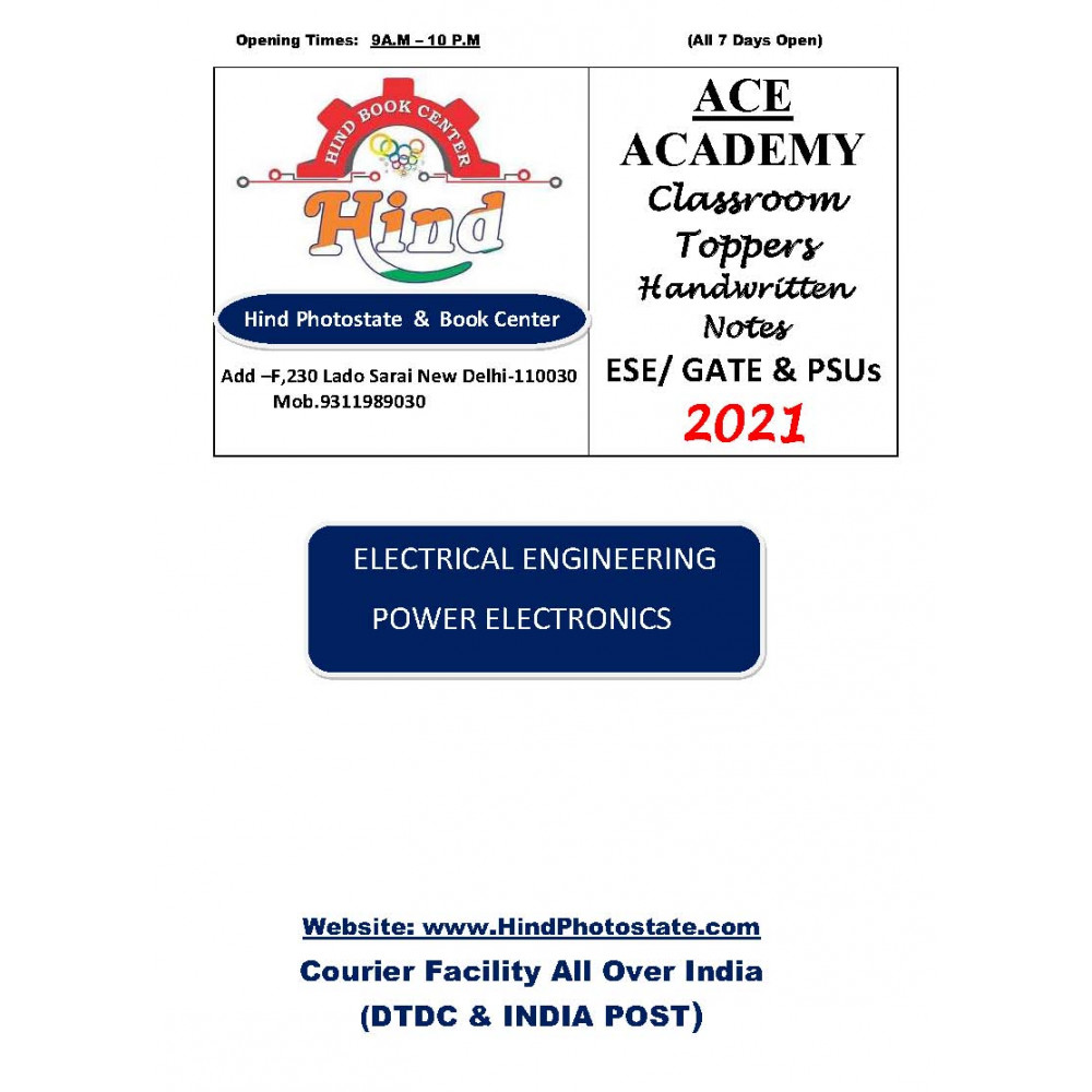 Electrical Engineering Handwritten Notes Power Electronics ACE ACADEMY