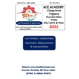 Electronics Engineering Handwritten Notes Electrical Measurement Instrumentation ACE ACADEMY