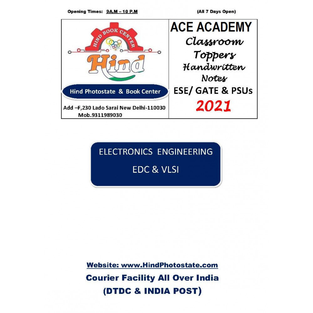 Electronics Engineering Handwritten Notes Electronic Divices Circuits VLSI ACE ACADEMY