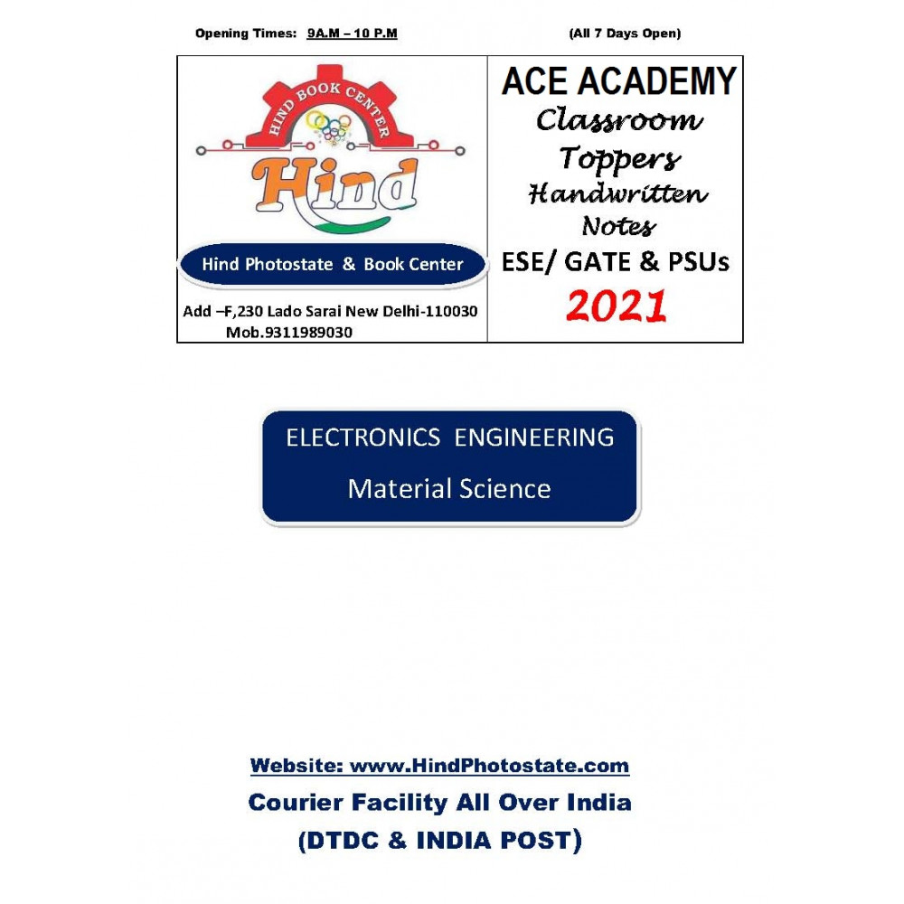 Electronics Engineering Handwritten Notes Material Science ACE ACADEMY