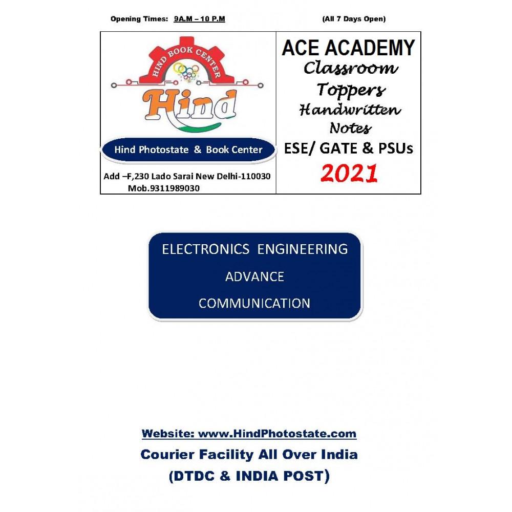 Electronics Engineering Handwritten Notes Advance Communication ACE ACADEMY