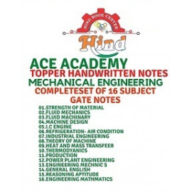 Mechanical Engineering Hand Written Notes GATE Notes Set Of 16 Subjects ACE ACADEMY