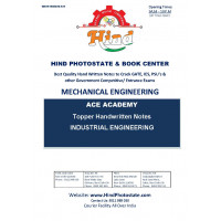 Mechanical Engineering Handwritten Notes : Industrial Engineering ACE ACADEMY
