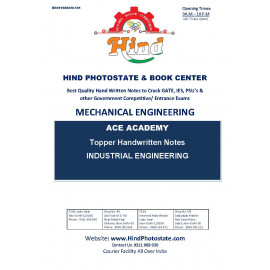 Mechanical Engineering Handwritten Notes : Industrial Engineering ACE ACADEMY
