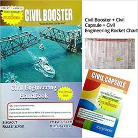Civil Booster Book (Civil Engineering Handbook) + Civil Rocket Chart + Civil Capsule by Civil Ki Goli Publication