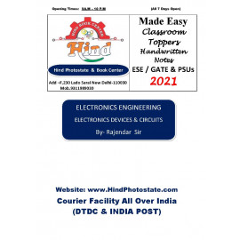 Electronics & Comm Handwritten Notes( Made Easy)  : Electronic & Divice circuit   By-Rajendr Sir