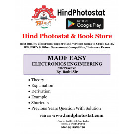 MICROWAVE ENGINEERING HANDWRITTEN NOTES BY-SANJAY RATHI SIR ( Rathi Classes) : FOR PSUs
