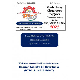 Electronics & Comm Handwritten  Notes  (Made Easy)  :   Microprocessor    By-M.V.R Shastri Sir