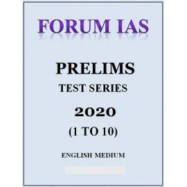 FORUM IAS PRELIMS TEST SERIES 1 TO 10 2020 ENGLISH MEDIUM