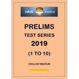 IAS BABA PRELIMS TEST SERIES 2019 1 TO 10