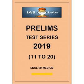IAS BABA PRELIMS TEST SERIES 2019 11 TO 20