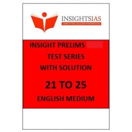 INSIGHT Ias prelims papers English Medium  21 to 25
