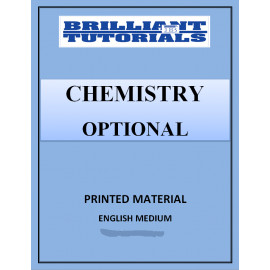CHEMISTRY OPTIONAL PRINTED NOTES BRILLIANT COACHING