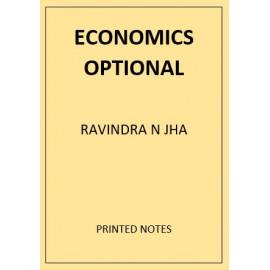 ECONOMICS OPTIONAL RAVINDRA N JHA PRINTED NOTES