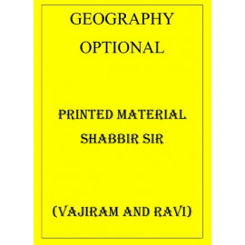 GEOGRAPHY OPTIONAL PRINTED MATERIAL SHABBIR SIR FROM VAJIRAM AND RAVI