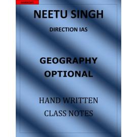 NEETU SINGH GEOGRAPHY OPTIONAL CLASS NOTES
