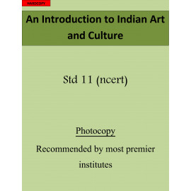 An Introduction to Indian Art and Culture 11th std printed book
