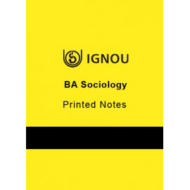 IGNOU BA SOCIOLOGY PRINTED NOTES