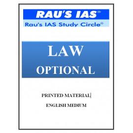 Law Optional Printed notes RAU coaching English Medium