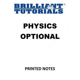 PHYSICS OPTIONAL BRILLIANT TUTORIAL PRINTED MATERIAL