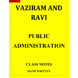 Public Administration VAJIRAM AND RAVI HAND WRITTEN