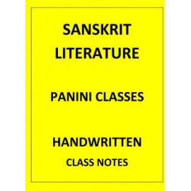 SANSKRIT LITERATURE PANINI CLASSES CLASS NOTES