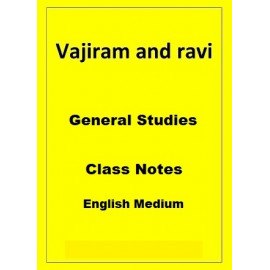 General Studies Vajiram and Ravi Class Notes