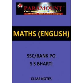 MATHS SSC S S BHARTI ENGLISH CLASS NOTES
