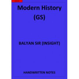 MODERN HISTORY GS BY BALYAN SIR CLASS NOTES