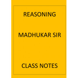 Reasoning Madhukar sir Class notes english medium