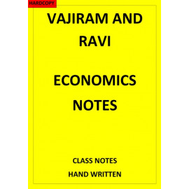 VAJIRAM AND RAVI ECONOMICS CLASS NOTES