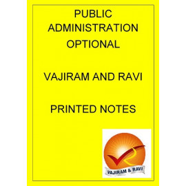 Public Administration Printed notes Vajiram and Ravi