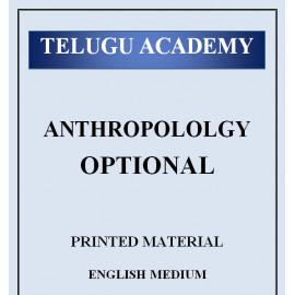 TELUGU ACADEMY ANTHROPOLOGY PRINTED ENGLISH MEDIUM