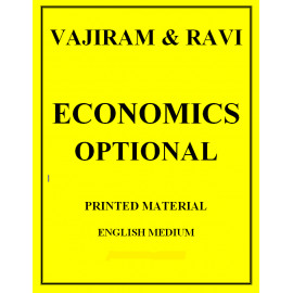 VAJIRAM AND RAVI ECONOMICS OPTIONAL ENGLISH PRINTED MATERIAL