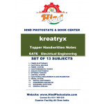 KREATRYX GATE & PSUs HAND WRITTEN NOTES ; ELECTRICAL ENGINEERING SET OF 13SUB ( 2020)