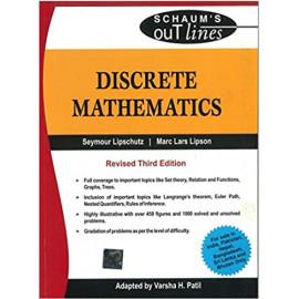 Discrete Mathematics (Schaum's Outlines) | Revised 3rd Edition by- Seymour Lipschutz , Marc Laras Lipson , Varsha H. Patil old book
