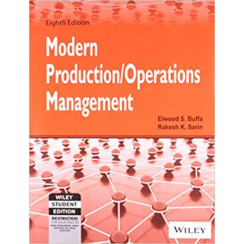 Modern Production / Operations Management, 8ed BY- Buffa (Author), Sarin (Author) OLD BOOK