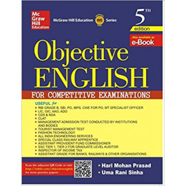 Objective English for Competitive Examination by-harimohan prasad , Uma Sinha old book