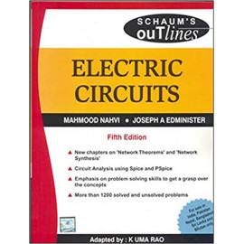 Electric Circuits, (Schaum's Outline Series) BY- M Nahvi , Joseph Edminister , K Rao OLD BOOK