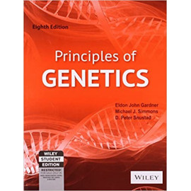 Principles of Genetics by- Gardner (Author), Simmons (Author), Snustad (Author) old book