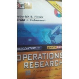 Introduction to Operations Research BY- Frederick Hillier EIGHT EDITION OLD BOOK TMH