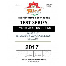 IES MAIN ( 2017 ) TEST SERIES MECHANICAL ENGINEERING ( MADE EASY )