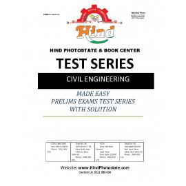 IES PRELIMS TEST SERIES 0FFLINE WITH SOLUTI0N CIVIL ENGINEERING 2019- Tech ( MADE EASY )