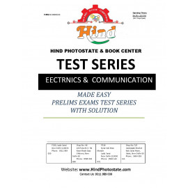 IES PRELIMS TEST SERIES 0FFLINE WITH SOLUTI0N ELECTRONIC ENGINEERING 2019-Tech ( MADE EASY )