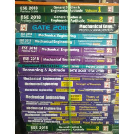 Mechanical Engineering Classroom Study Package Original Books- 2018 : for ESE, GATE & PSUs (Set of Books-38 Made Easy)