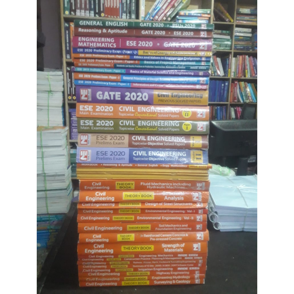 Civil Engineering Classroom Study Package Original Books - 2020 : for ESE, GATE & PSUs (Set of Books-40 Made Easy)