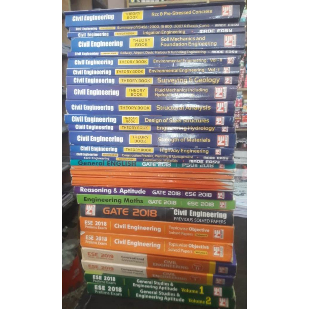 Civil Engineering Classroom Study Package Original Books-2018 : for ESE, GATE & PSUs (Set of Books-40 Made Easy)