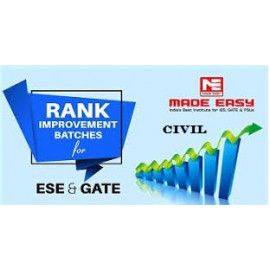 Rank Improvement Batches WorkBook Civil Engineering With Solution Made Easy ESE + GATE : 2019-2020