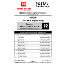 Electrical Engineering Postel Study Package Original Books - 2017 : For ESE, GATE & PSUs (Set Of Books-60 Made Easy)